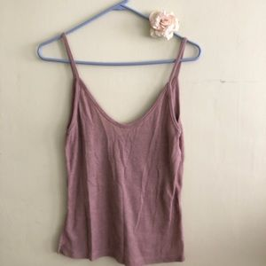 Super cute mauve ribbed tank top 💖